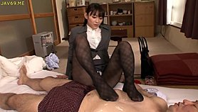 Petite classy lust in pantyhose needs to please her horny boss XXX Porn